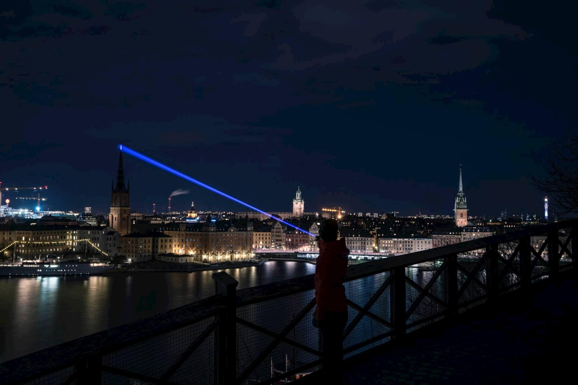 Nattfoto i Stockholm