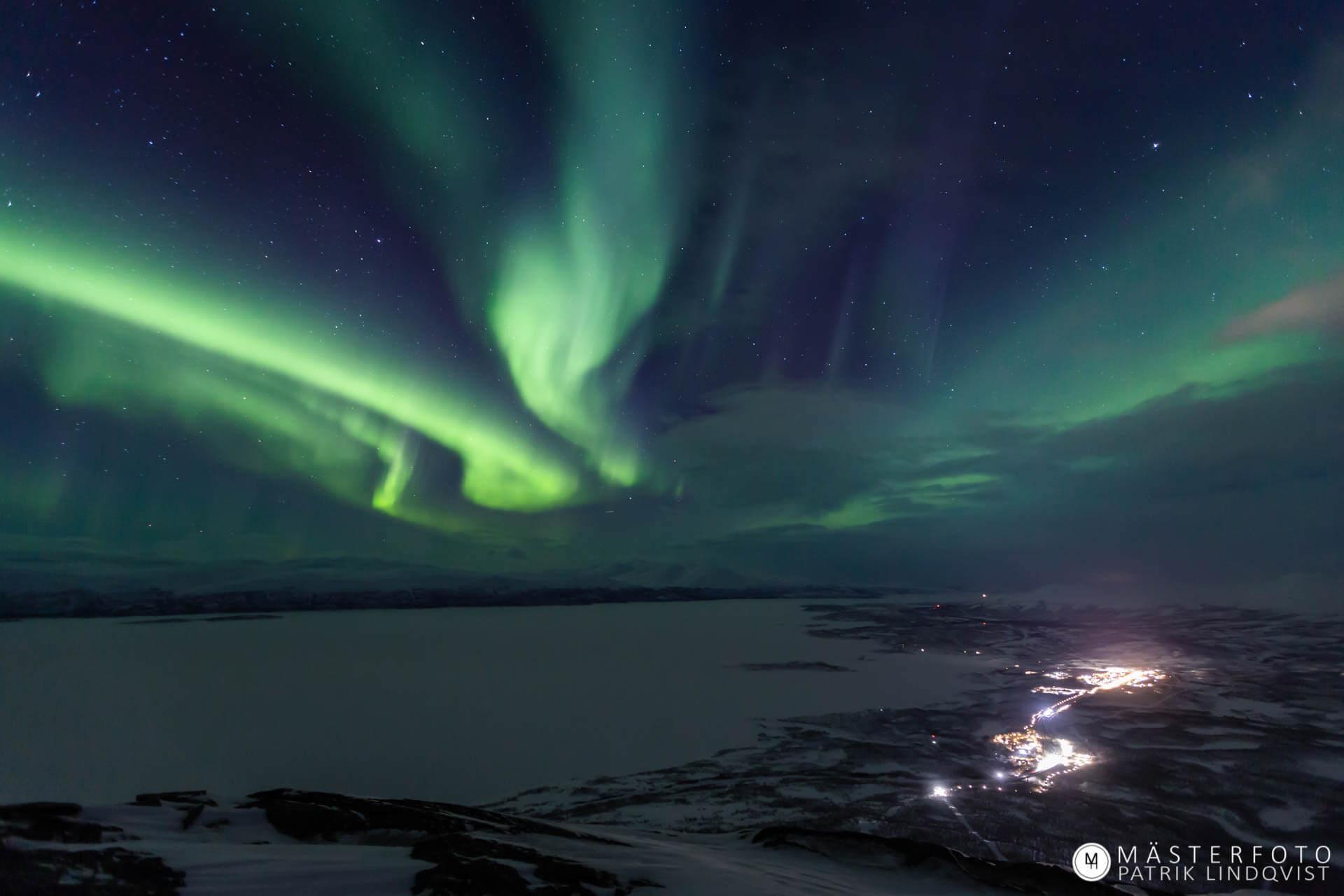 Fotoresa norrsken i Abisko för att lära dig fotografera norrsken