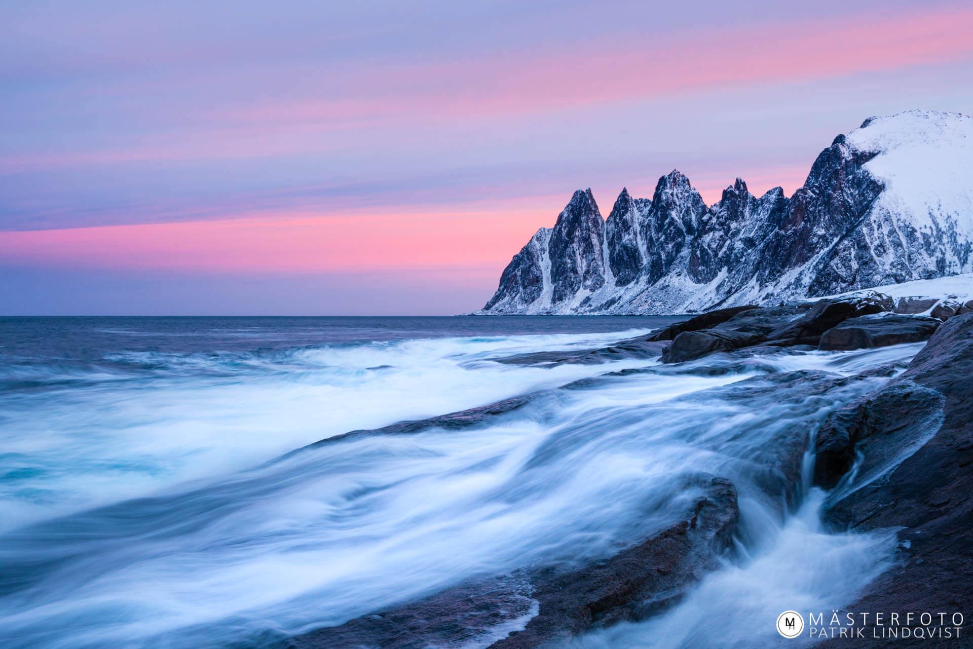Fotoresor till Senja Norge. Workshop i kustlandskap